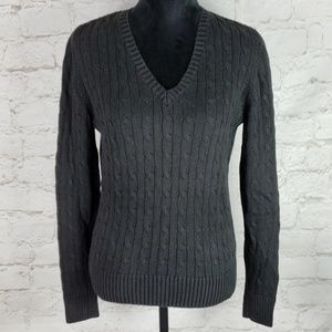 Tommy Hilfiger black cable knit sweater size Large